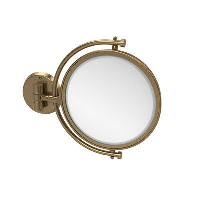 Allied Brass Universal Extendable Mirror Finish: Brushed Bronze, Magnification: 4x