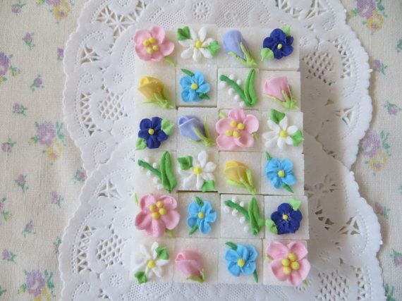 Springtime Decorated Floral Sugar Cubes by SweetSpecialties, $12.00