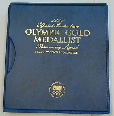 ATHENS 2004 OLYMPIC GAMES AUSTRALIAN GOLD MEDALISTS HAND SIGNED COVERS THORPE