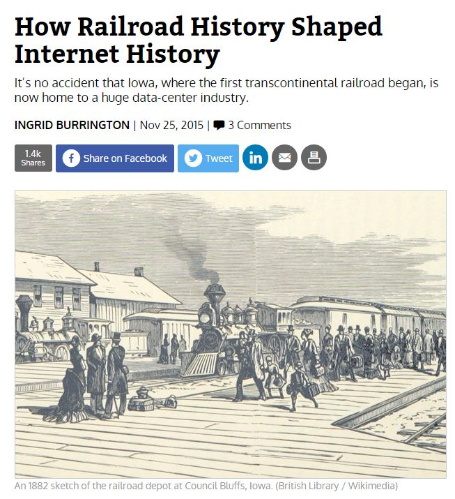 How Railroad History Shaped Internet History / @CityLab | #socialhistory #socialgeo