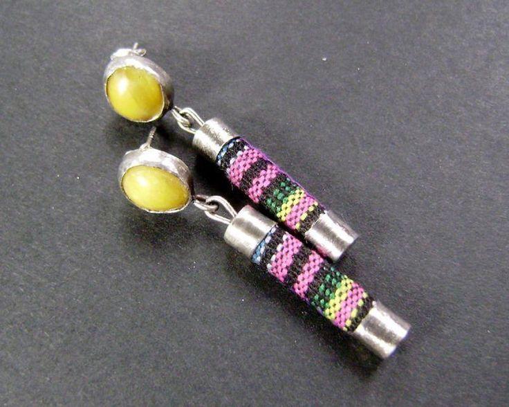 Kolorowe kolczyki w artkatalina -  biżuteria artystyczna na DaWanda.com
