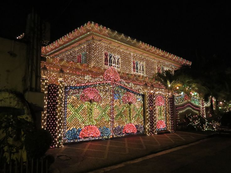 A house fully decorated with Christmas lights - Policarpio St., Mandaluyong City