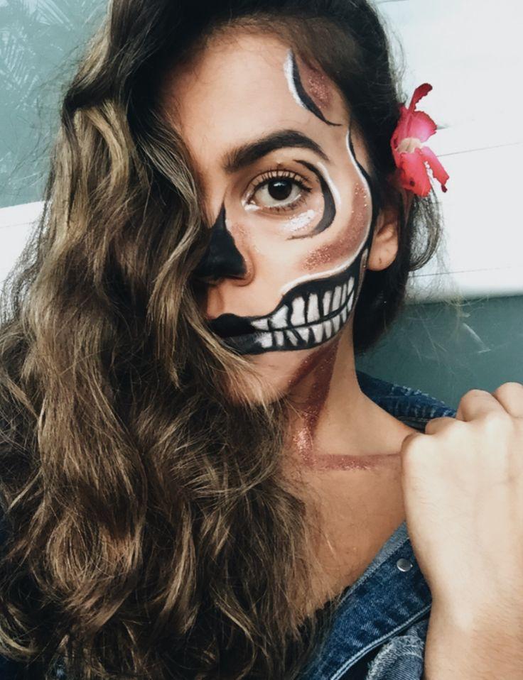 Halloween 2017 ❣️  #style #makeup #art #halloween #blog #halloween2017 #halloweenmakeup #girl #ideas #inspire #flower #skull #skullmakeup #october #october2017 #fashion #design #pin #pictureday