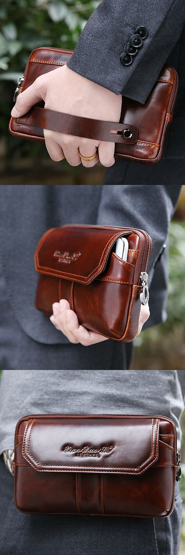 US$34.99 + Free shipping. Men Clutch Bag, Genuine Leather Men Clutch Bag, Belt Men Bag, Waist Bag, Phone Bag. Material: Genuine Leather. Excellent Design with Dual Use.