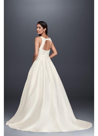 b56fc92a0984 High-Neck Mikado Petite Ball Gown Wedding Dress 7WG3879 | Wedding ...