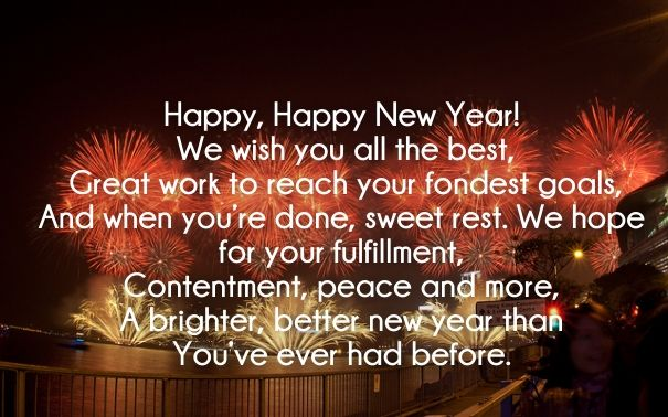 17 Best ideas about Happy New Year Poem on Pinterest  New year poem, Happy n...