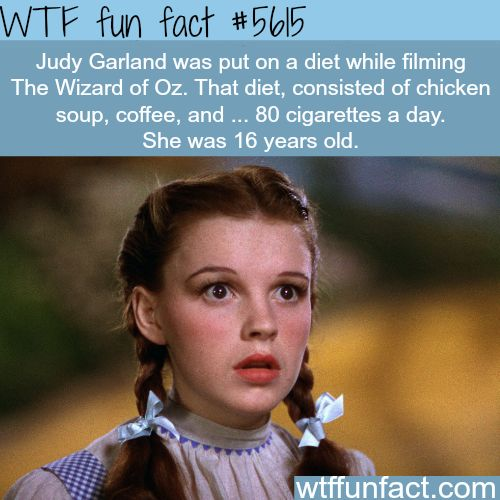 Judy Garland - WTF fun fact                                                                                                                                                                                 More