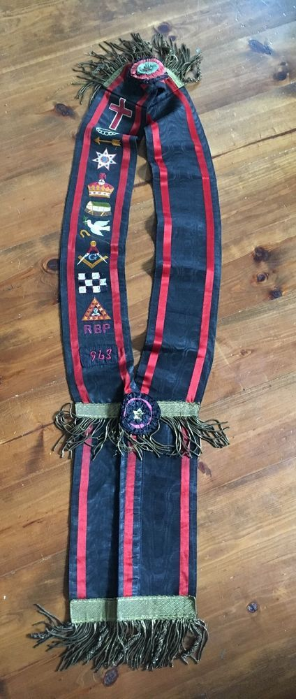 Antique RBP Sash Orange Order Masonic Lodge Royal Black Preceptory Saskatchewan
