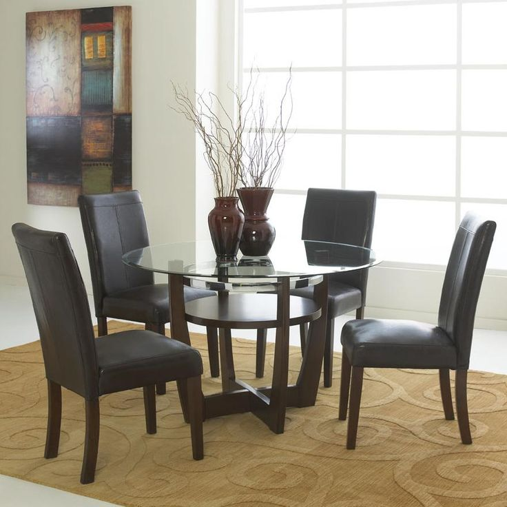 brown dining rooms round dining tables kitchen tables glass dining