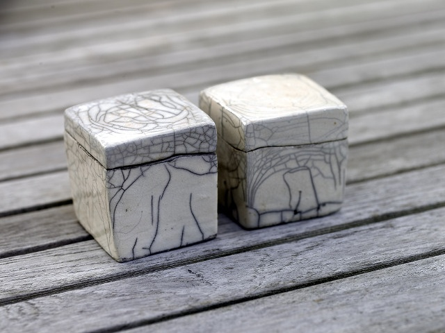 raku boxes - I've always had a thing for small boxes; there's something about them that seems so personal.