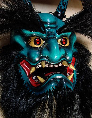 Oni Demon Mask | Blue Oni (demon or ogre) Mask