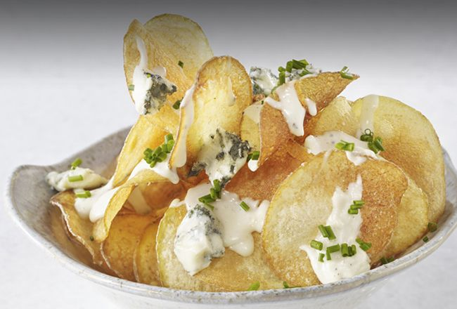 Wolfgang Puck's Homemade Potato Chips and Blue Cheese Dip Recipe – Frugal Novice