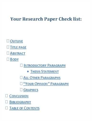 Components of a Research Paper