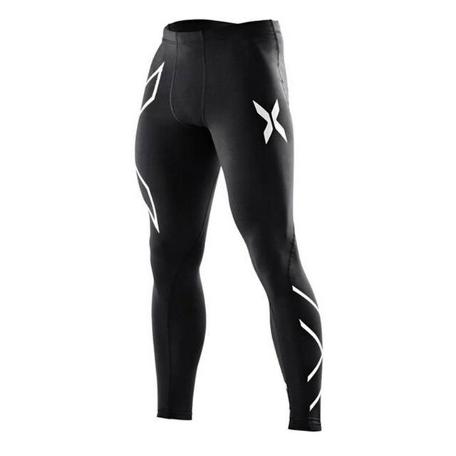 Mens base layer fitted compression pants athletic squat power lifting sweatpants