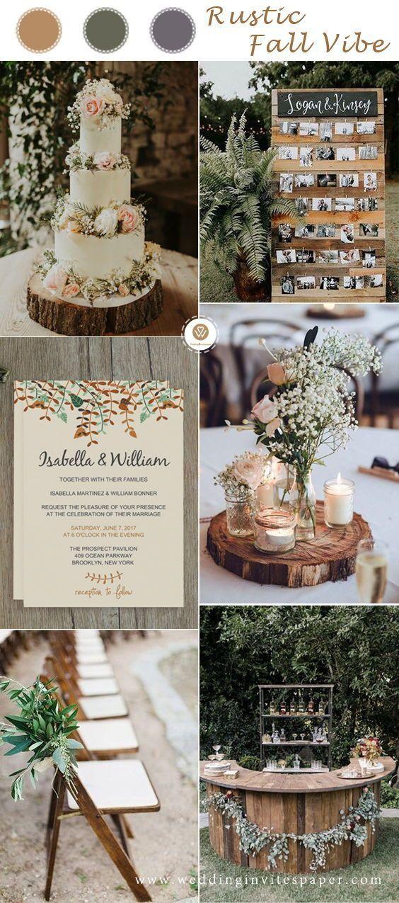 Rustic fall wedding ideas in the woodland, vintage wedding theme , cheap wedding…