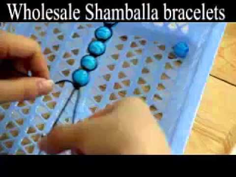 Make shamballa macrame bracelets with your own beads in 15 minutes, step...