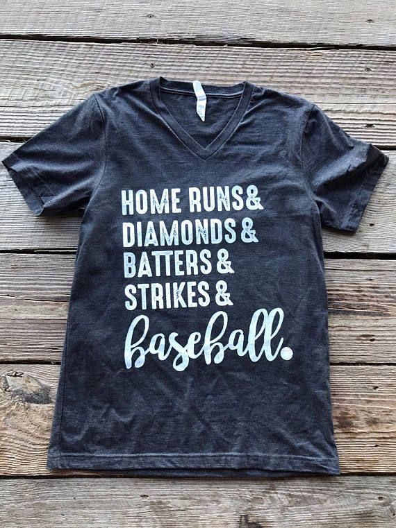 Baseball Shirt/Baseball Tee/Custom Baseball Shirt/V-Neck