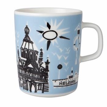 Need these for my collection! #pintofinn Marimekko Helsinki Blue Mug - Click to enlarge