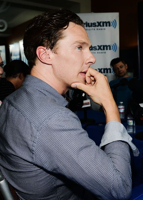 Benedict Cumberbatch is interviewed on SiriusXM's Entertainment Weekly Radio channel from Comic-Con 2014 at The Hard Rock Hotel on July 26, 2014