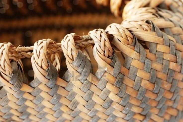 Weave pattern of a basket Stock Photo