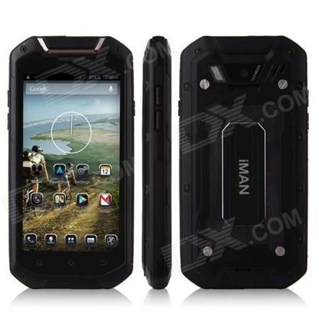 "iMAN V12 Android 4.2 Quad Core Waterproof Dust-proof Shockproof 3G Smartphone w/ 4.5"", 8GB ROM, GPS  — 16530.89 руб. —  Color Black RAM 1GB Internal Storage 8GB Brand Othersiman Model V12 Quantity 1 Piece Material Plastic Shade Of Color Black Type Brand New Plug Specifications EU Plug (2-Round-Pin Plug) Housing Case Material Plastic Released Time 2014 Cellular WCDMAGSM Network Type 2G3G Band Details (2G): GSM 850/900/1800/1900MHz  (3G): WCDMA 900/2100MHz Data Transfer GPRS Network…"