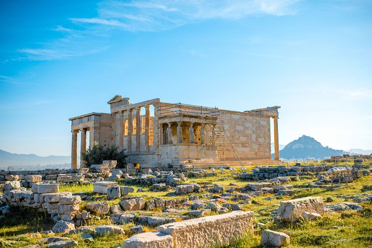The temple of Erechtheion and the famous Caryatids