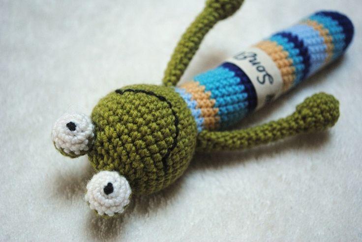Gehäkelte Rassel Frosch Crochet Baby Rattle Frog