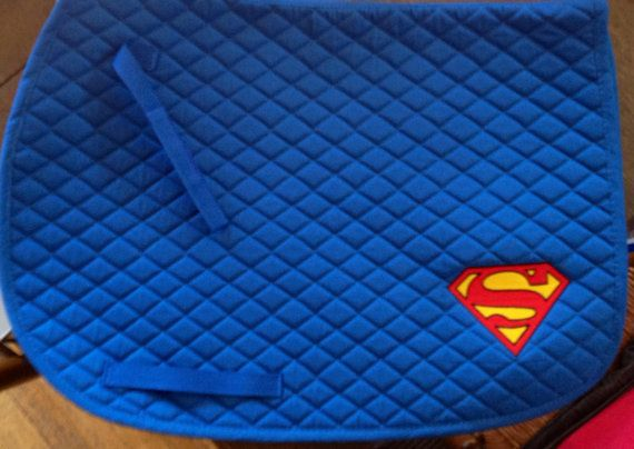 Superman Logo Embroidered Saddle Pad. @Alexandria Nicole one day I will own this.
