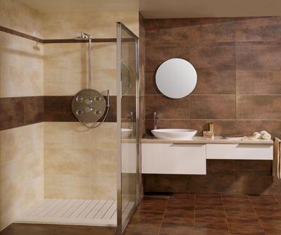 Resultado de imagen para ceramicos para baños beig y marron