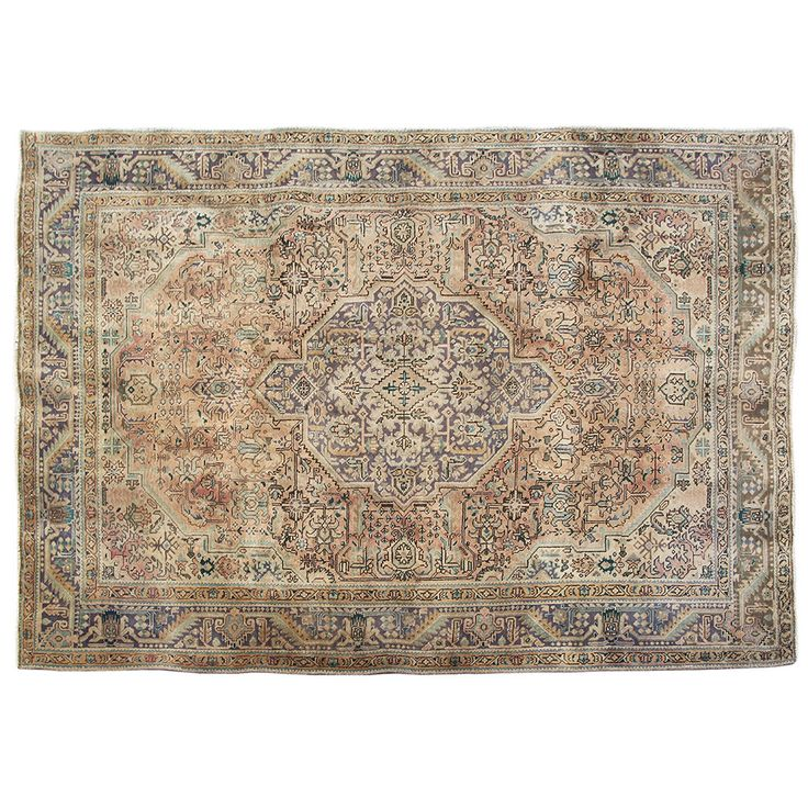 "9'6"" x 6'10"".Vintage Persian rug, Traditional area rug for sale, Oriental floor carpet, Floral design, Hand knotted, area rug, Vintage wool rug, Code : S0101245"