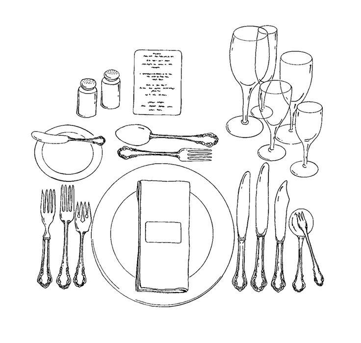 1000 images about table etiquette on pinterest napkin. Black Bedroom Furniture Sets. Home Design Ideas