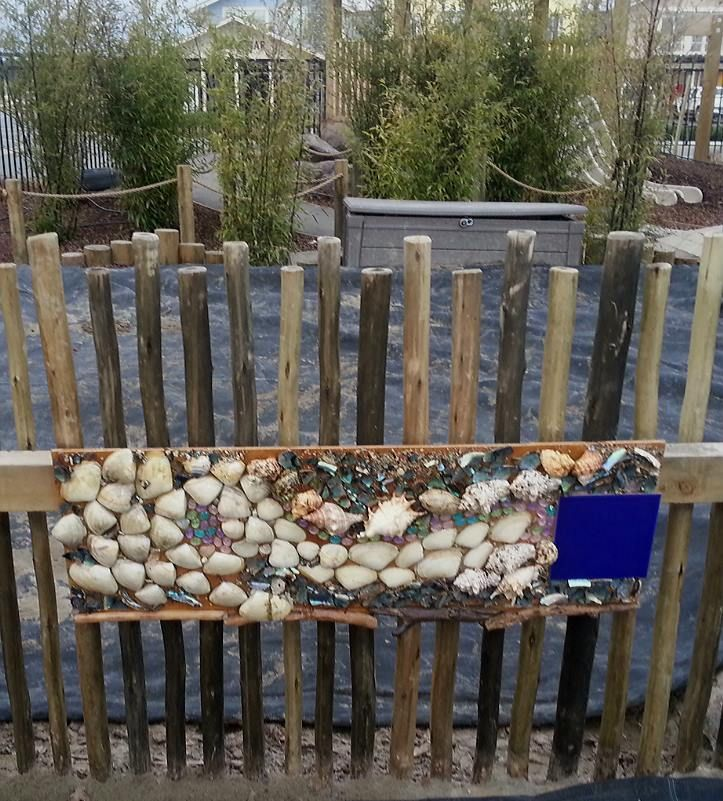 Sensory board made by toddlers - Nature's Play Preschool - Pegasus ≈≈
