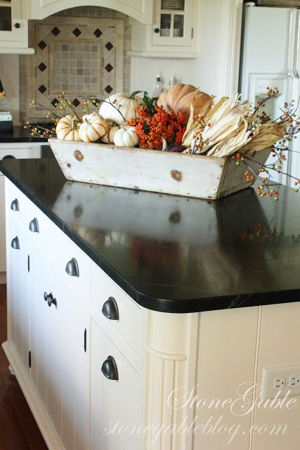 FALL SPLENDOR. Kitchen Island CenterpieceKitchen Island DecorDining ...