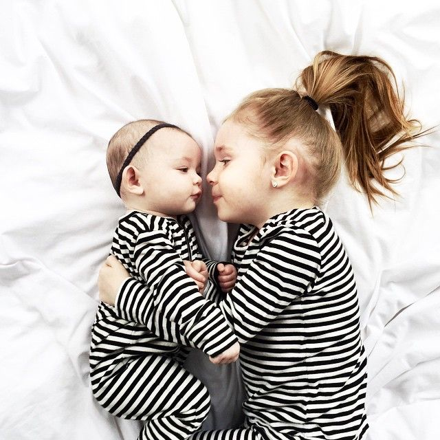 #ShareIG There's nothing that I love more than sisters in matching jammas. Thank you @halfpintshop for the @goatmilknyc