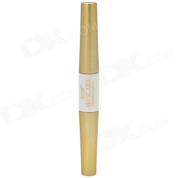 Brand: BOB; Model: 043037; Color: Golden + White; Material: Water, carnauba wax, wax, wax, stearic acid, propylene glycol etc; Quantity: 1; Functions: Nourish, repair and curl eyelashes; Waterproof: Yes; Features: The white gel is for nourishing and repairing eyelashes, the black gel is for curling and and thickening eyelashes; Packing List: 1 x Mascara; http://j.mp/VznMoe