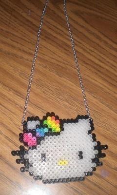Perler Bead Necklaces / Perler Beads - Hama perlen - Bügelperlen