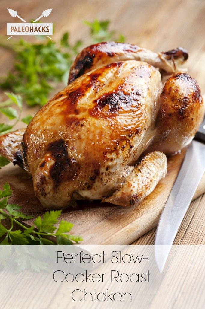 Perfect Slow Cooker Roast Chicken