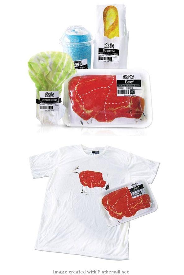 creative tshirt packaging design