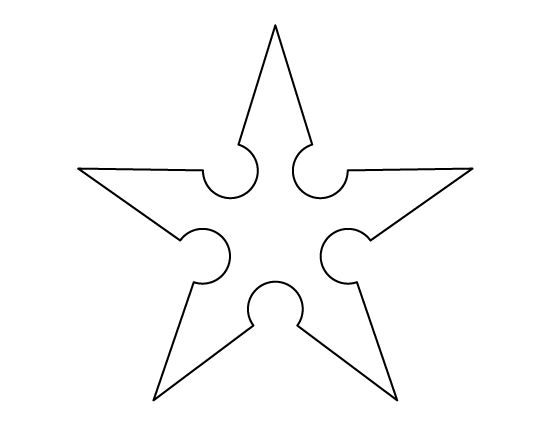 Ninja star pattern. Use the printable outline for crafts, creating stencils, scrapbooking, and more. Free PDF template to download and print at http://patternuniverse.com/download/ninja-star-pattern/