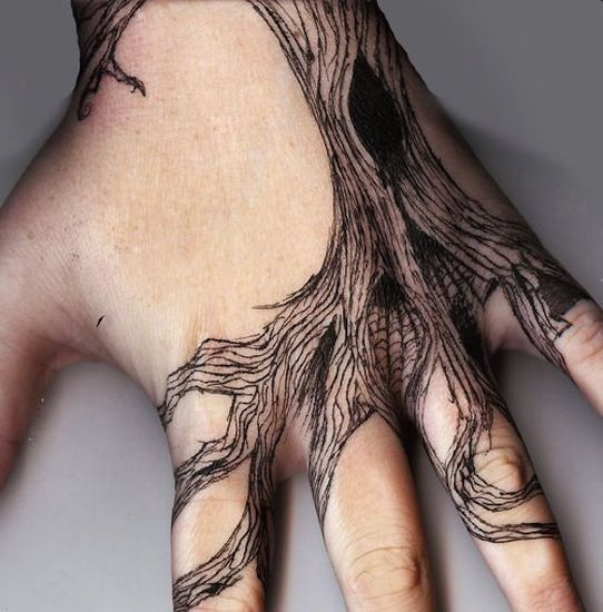 hand tree tattoos design