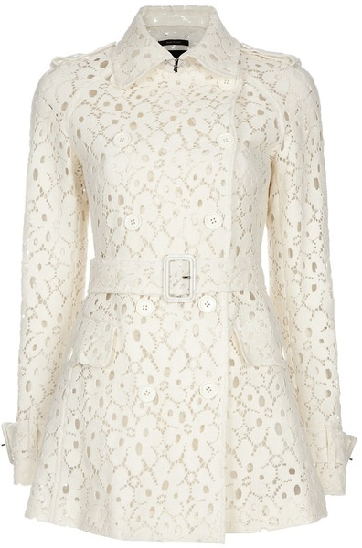 Lace Trench Coat - Lyst