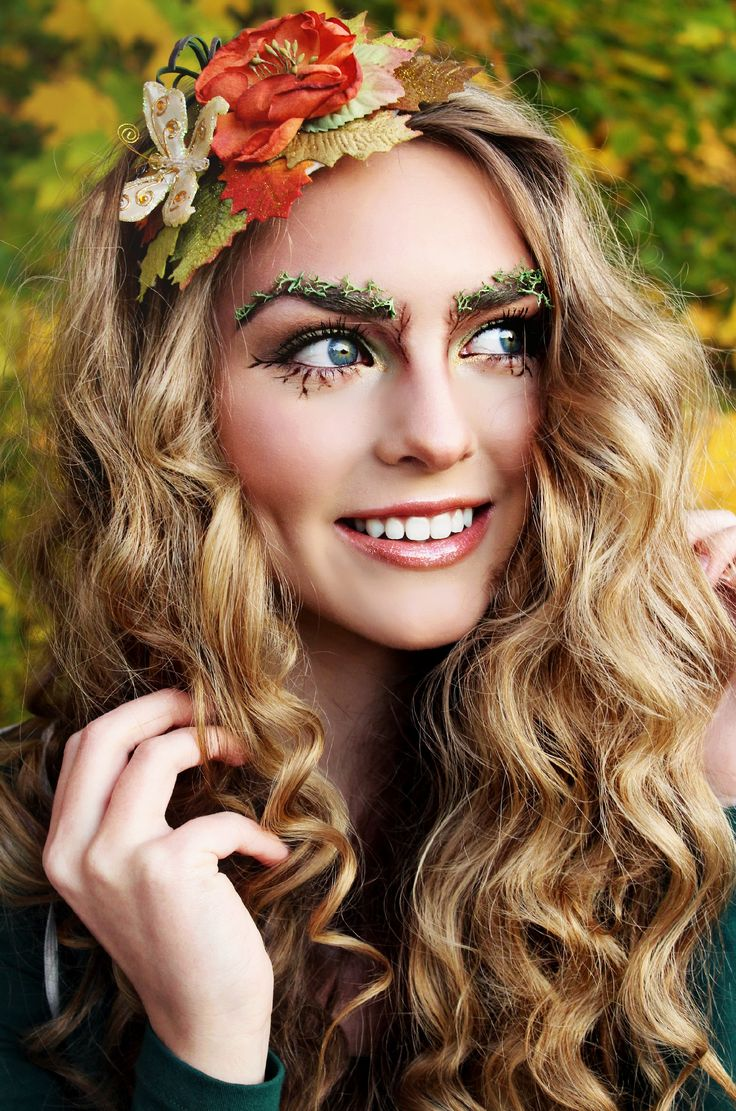 Forest Fairy / Woodland Fairy Makeup Tutorial! Moss eyebrows, twiggy lashes, peach flush, glossy lips! - Jackie Wyers