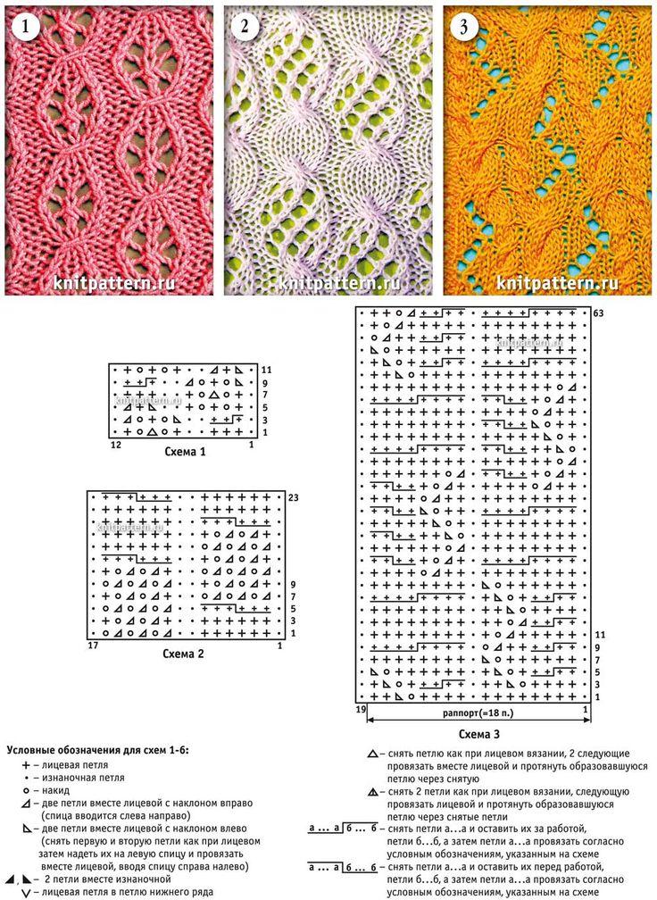 Узоры и схемы для вязания спицами. Страница №24.