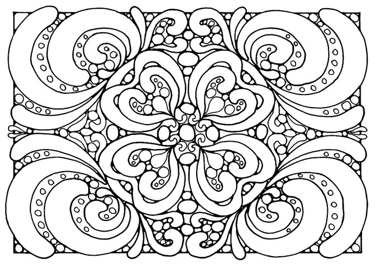 Coloring Adult Patterns Jpg Dans Zen And Anti Stress Pages For Adults
