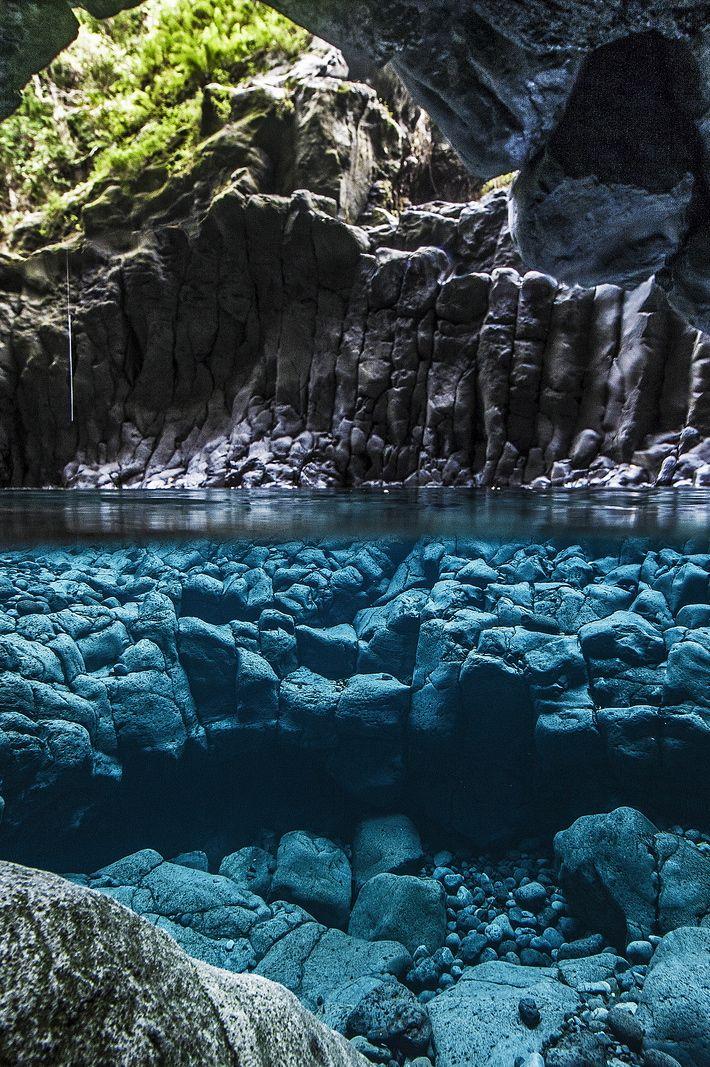 La cascade du trou Noir, Saint-Joseph, Réunion
