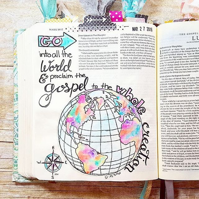 Nearing the end of the #createdtocreate devotional by @illustratedfaith and I'm already planning on going through it again. Today focused on the idea of sharing our #bibleartjournaling with others. Some of you may see your journaling as a private thing between you and God and I do have some entries like that but I generally love sharing mine with all of you. I don't do this for any kind of recognition or validation...my hope when I do post a page is that it might be just the verse someone…
