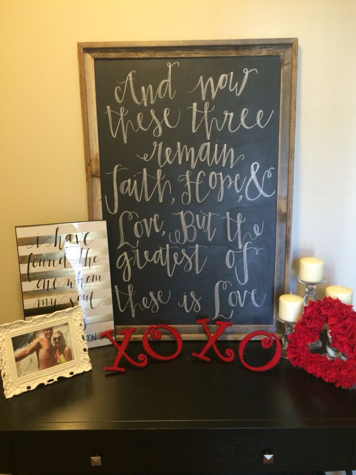 front entry table for Valentines!