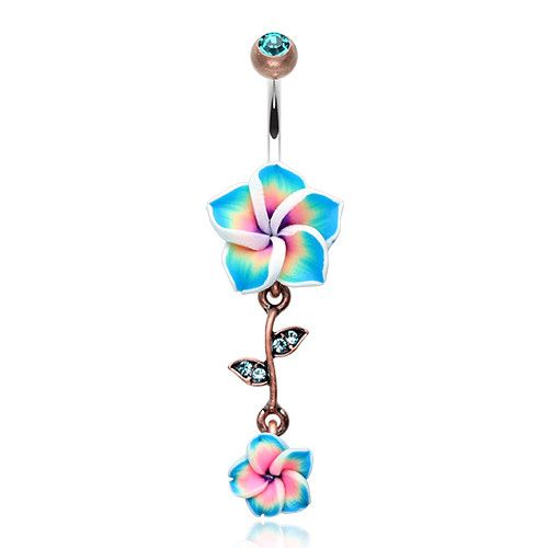 Boho Vintage Flower Belly Ring. Belly Button Rings – bellylicious