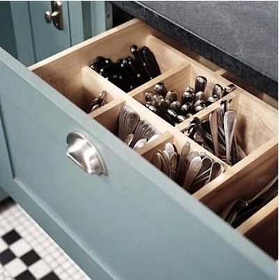 vertical utensil storage