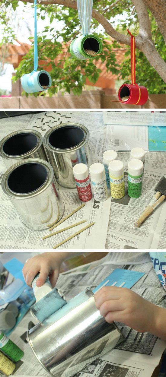 DIY Bird Feeders | Click Pic for 20 DIY Garden Ideas on a Budget | DIY Backyard Ideas on a Budget for Kids